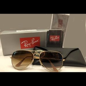 Ray ban aviator gold brown gradient 001/51 58mm